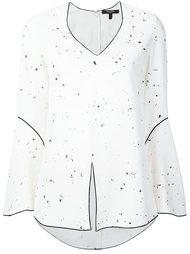 блузка с контрастной окантовкой  Derek Lam