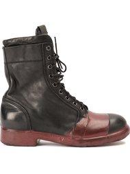 контрастные ботинки в стиле милитари  Oxs Rubber Soul
