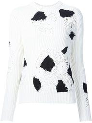 свитер с фактурными деталями Derek Lam