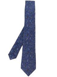 галстук с узором пейсли Kiton