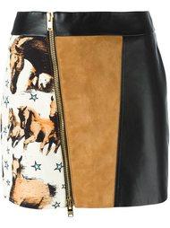 мини юбка со смещенной молнией Fausto Puglisi