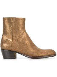 ботинки с эффектом металлик  Maison Margiela