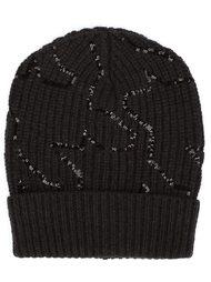 шапка-бини с пайетками Brunello Cucinelli