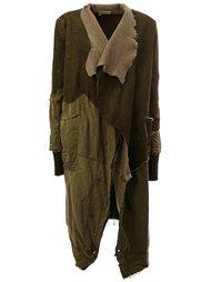 пальто с панельным дизайном в стиле милитари Greg Lauren