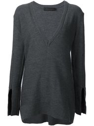 longsleeved V-neck knitted blouse Calvin Klein Collection
