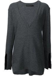 longsleeved V-neck knitted blouse Calvin Klein Collection
