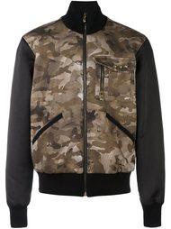 куртка-бомбер с камуфляжным принтом Versus