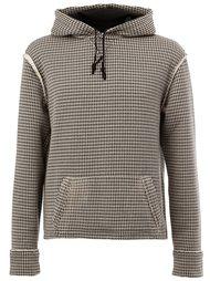 houndstooth print hoodie Aganovich