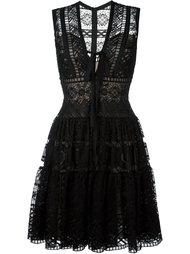 расклешенное платье с вышивкой Elie Saab