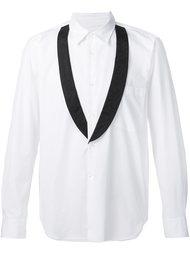 рубашка с контрастными лацканами Comme Des Garçons Homme Plus