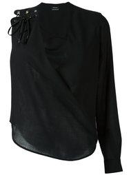 блузка с одним рукавом Anthony Vaccarello