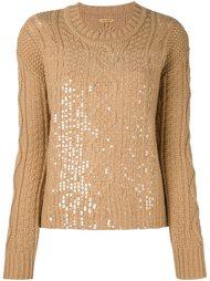 свитер с пайетками Peter Jensen