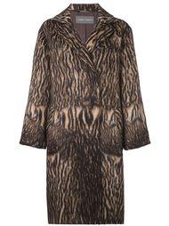 пальто животной расцветки Alberta Ferretti