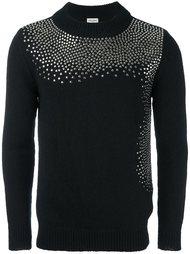 свитер с заклепками Saint Laurent