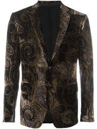 бархатный пиджак с узором Etro