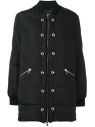 удлиненная куртка-бомбер с заклепками Boutique Moschino