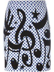 юбка с принтом нот  Jeremy Scott