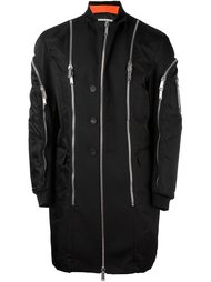 пальто с декоративными молниями Dsquared2