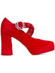 декорированные туфли  Simone Rocha