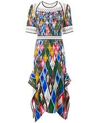 платье с абстрактным принтом   Peter Pilotto