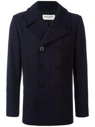 короткое пальто-бушлат Saint Laurent