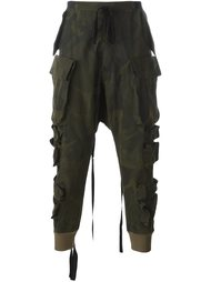 брюки с камуфляжным принтом  Unravel