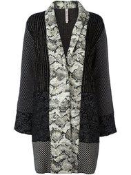 пальто с комбинированным принтом Antonio Marras