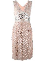 декорированное платье с V-образным вырезом Altuzarra