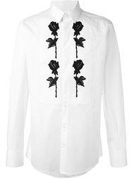 рубашка с аппликацией в виде роз Dolce & Gabbana