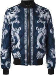 стеганая куртка-бомбер 'Lenticular Foulard'  Versace
