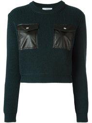 свитер с карманами  Carven