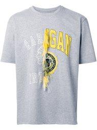 футболка с контрастным принтом Doublet