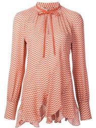 блузка с мелким узором Derek Lam