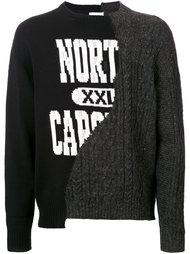 свитер с контрастным принтом Doublet