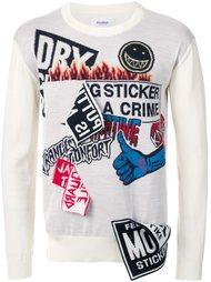 свитер с контрастными нашивками Doublet