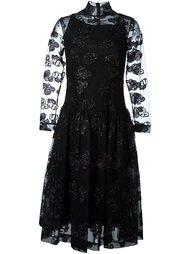 приталенное платье с прозрачными рукавами Simone Rocha