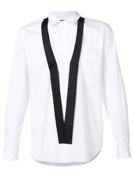 рубашка с контрастными деталями Comme Des Garçons Homme Plus