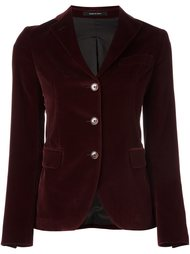 приталенный бархатный пиджак Tagliatore