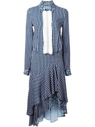 платье-рубашка асимметричного кроя  Preen By Thornton Bregazzi