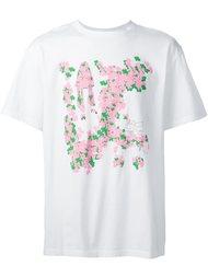 футболка с цветочным принтом Julien David