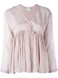 присборенная блузка с кисточками Forte Forte