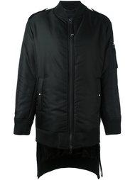 длинная куртка-бомбер Diesel Black Gold