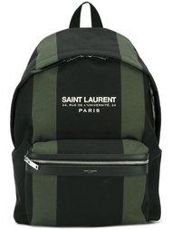 рюкзак в полоску Saint Laurent