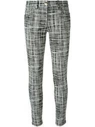 брюки с принтом в полоску Boutique Moschino