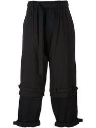 многослойные укороченные брюки Yohji Yamamoto