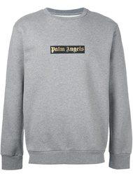 толстовка с принтом логотипа   Palm Angels