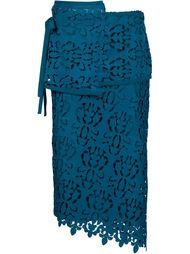 многослойная юбка в технике макраме Nº21