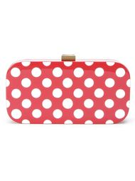 polka dot enamelled clutch Serpui
