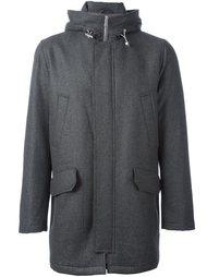 пальто с капюшоном на молнии Eleventy