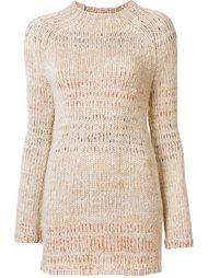 удлиненный свитер в полоску Helmut Lang